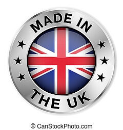 Made In The UK Silver Badge - Made in The UK silver badge...