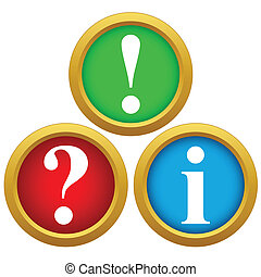 Question and answer icons