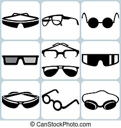 Eyeglasses Icon Set - Eyeglasses Vector Icon Set