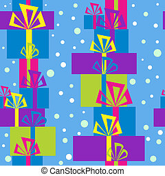 Pattern with gift boxes for Christmas
