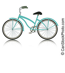 Bike with a white background