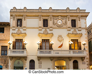 Casa de la Vila in Vilafranca, Catalonia, Spain. -...