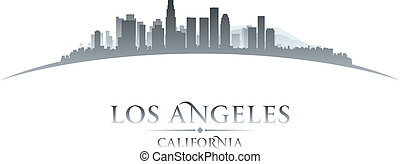 Los Angeles California city skyline silhouette. Vector...