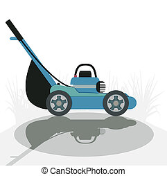 Mower with a white background