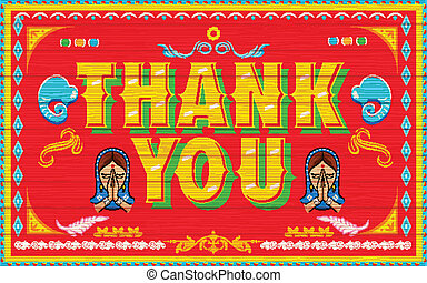 Thank You Poster - illustration of Thank You Poster India...