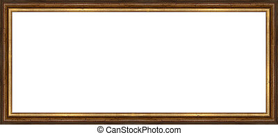 frame - a picture frame on a white