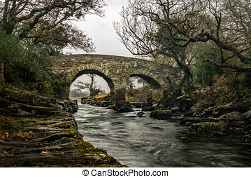 Old Weir Bridge,Meeting Of The Waters,Killarney National...