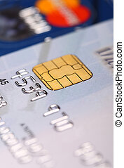 credit card - fine image of credit card detail and selective...