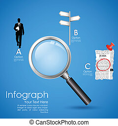 Job Search in Newspaper - illustration of searching job in...