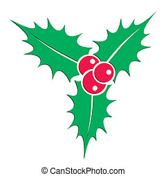 Holly berry plant - Symbol of christmas holly berry plant...
