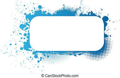 Blue grunge frame - Colorful grunge frame in blue colors