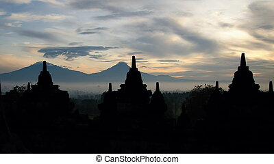 The pride of the morning in Borobudur, Indonesia