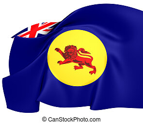 Flag of North Borneo Close Up