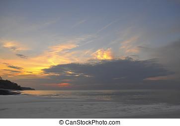 Corona Beach - Beautiful sunrise at Corona Beach, Panama