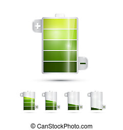 Vector Battery Life Symbols Isolated on White Background