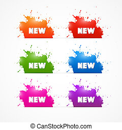 Colorful Vector Sale Blots Icons with New Title