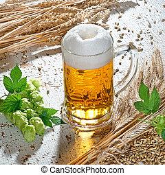 vidrio, cerveza