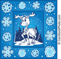 Christmas topic greeting card 5 - eps10 vector illustration.