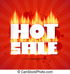 Vector Hot Sale Title In Flames