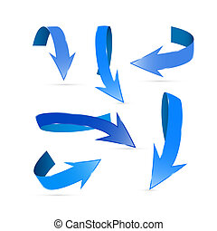 Blue Abstract Arrows Set