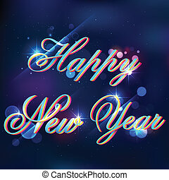 Happy New Year - illustration of Happy New Year background