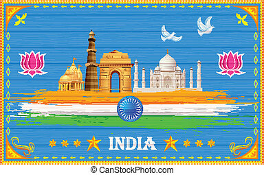 India Background - illustration of India background in truck...