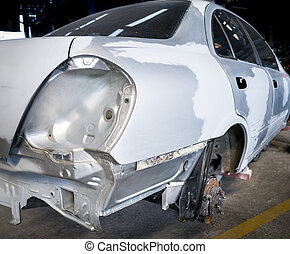 Car body repair - Rear view of the car body that was fixed...