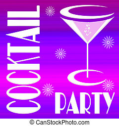 Cocktail party - Invitation card for cocktail party on...
