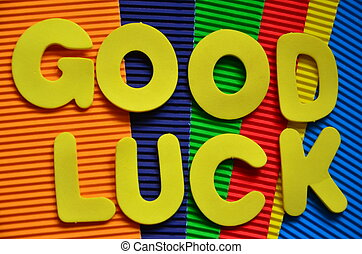 good luck - word good luckon a abstract background