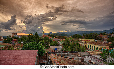 Trinidad during sunset, Cuba