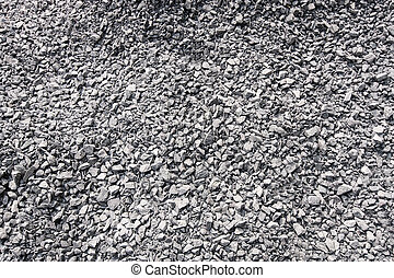 Crushed gravel background.