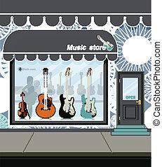 Music store.