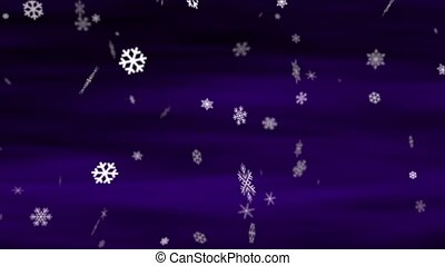Snowflakes Deep Purple - Perfectly seamless no fade loop...