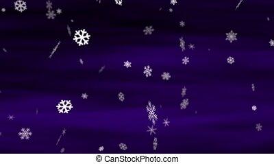 Snowflakes Deep Purple