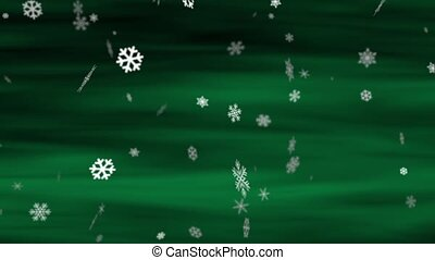 Snowflakes Aurora Green Loop - Perfectly seamless no fade...