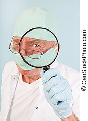 investigation by doctor - Doctor is having an investigation...