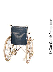wheel chair isolated over white background