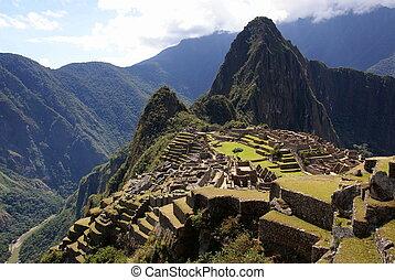 Mysterious city Machu Picchu, Peru