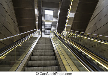 escalator in the metro