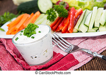 Mixed Crudites with Dip - Mixed Crudites (Celery, Cucumber,...