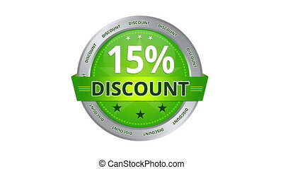 15 percent discount - Green Animated 15 percent discount...