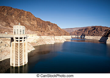 Colorado River Lake Meade close to Hoover Dam