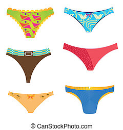 panties - sixdifferent panties with different colros and...