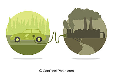 Vector concept of eco car