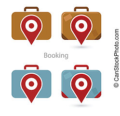 Vector set of booking icons