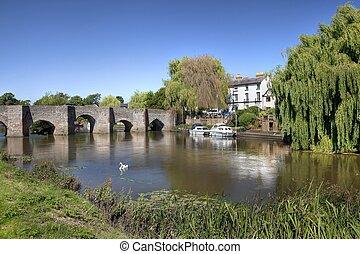 Bidford-on-Avon, Warwickshire - The River Avon at...