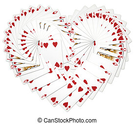 Heart Playing Cards - My illustration of heart playing cards...