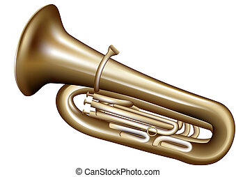 tuba isolated on white background. 10 EPS