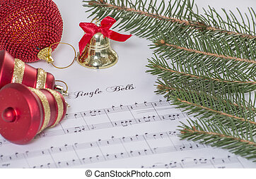 Jingle bells - Christmas decoration with a music of jingle...