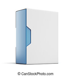 Modern Box package isolated on a white background 3d render...